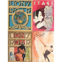 Vincente Minnelli (2) Lion's Roar and (2) Stage magazines with features on his work.