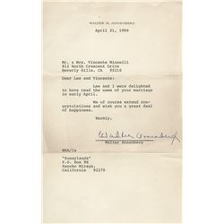 Vincente Minnelli archive of (75+) correspondence from celebrities and personages of note.