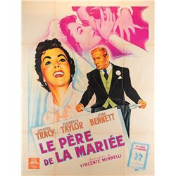 Vincente Minnelli French grande poster for Father of the Bride.
