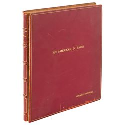 Vincente Minnelli custom bound shooting script for An American in Paris.