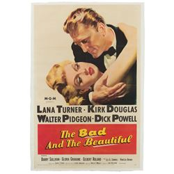 Vincente Minnelli personal 1-sheet poster for the The Bad and the Beautiful.