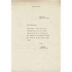 Vincente Minnelli (35+) pieces of correspondence from celebrities, digniatries and admirers.