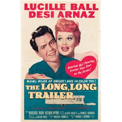Vincente Minnelli 1-sheet poster for Lucille Ball in The Long, Long Trailer.