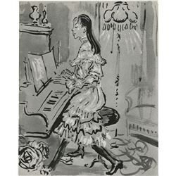 Vincente Minnelli (40) vintage photographs of Cecil Beaton costume sketches for Gigi.