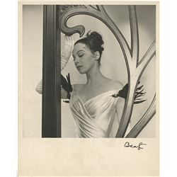 Leslie Caron special character portrait from Gigi signed by Cecil Beaton.