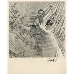 Leslie Caron photograph from Gigi signed by Cecil Beaton.