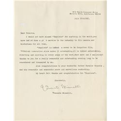 Vincente Minnelli (5) signed letters and documents.