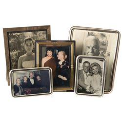 Vincente and Lee Minnelli collection of (5) framed photos including Merle Oberon, and Cesar Romero.
