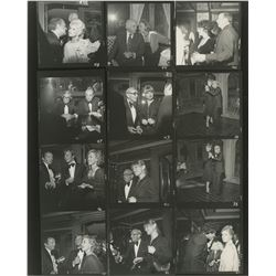 Vincente Minnelli (30+) contact sheets from parties featuring celebrities.