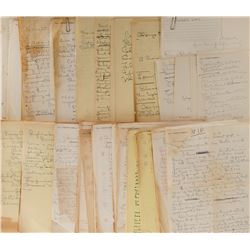 Vincente Minnelli (100+) autograph notes concerning his films and other projects.