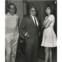 Vincente Minnelli and Barbra Streisand (8) behind the scenes photographs printed for Streisand.
