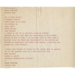 Vincente Minnelli archive of (40+) notes, correspondence, and documents regarding A Matter of Time.