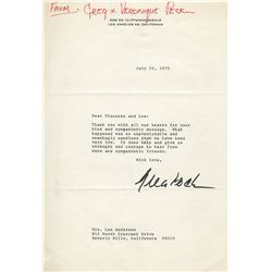 Vincente Minnelli (15) pieces of correspondence from celebrities.