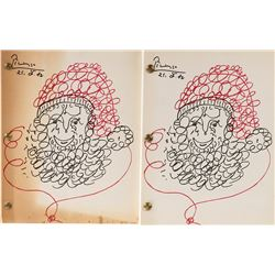 Vincente Minnelli treatment and script for Santa Claus each with cover art by Picasso.