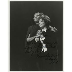 Pearl Bailey signed photograph inscribed to Vincente Minnelli.