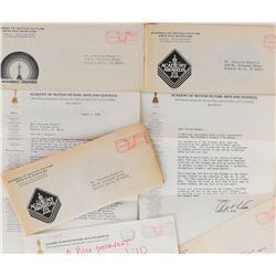 Vincente Minnelli (5) pieces of correspondence from the Academy including 3-Oscar ballots.