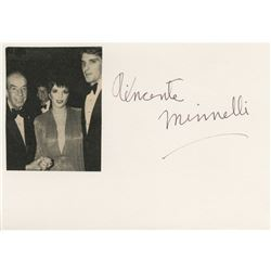 Vincente Minnelli (6) signed cards with printed images.
