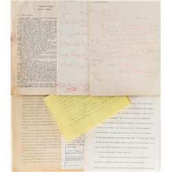 Vincente Minnelli (25+) pages of handwritten notes for film projects and his autobiography.