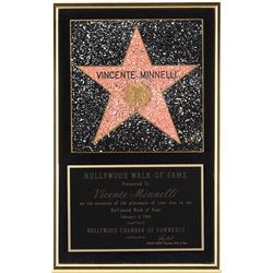 Vincente Minnelli personal Hollywood Walk of Fame star plaque.
