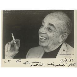 Vincente Minnelli (3) portrait photographs including 1-signed to Liza Minnelli and Michael Jackson.