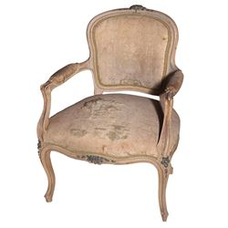 Vincente Minnelli antique hand-carved French armchair.