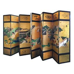 Vincente Minnelli antique hand-painted Japanese screen.