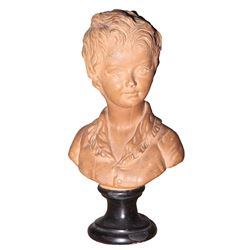 Vincente Minnelli portrait bust of a male youth.