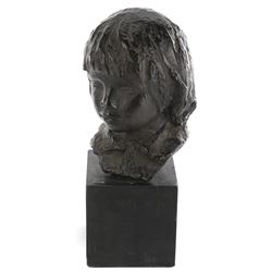 Vincente Minnelli portrait bust of a female youth.