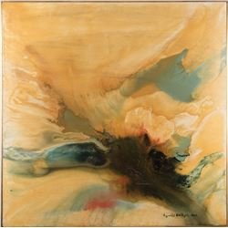 Vincente Minnelli 'La Cascade' abstract painting by Ronald Mattony.