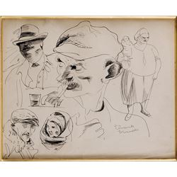 Vincente Minnelli character sketches.