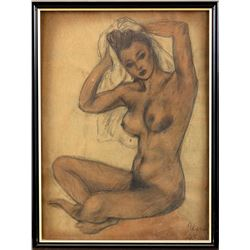 Vincente Minnelli after the bath female nude drawing.