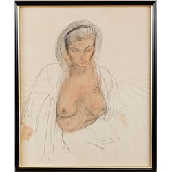 Vincente Minnelli female nude study drawing.