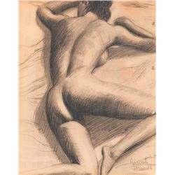 Vincente Minnelli (3) nude female form study drawings.