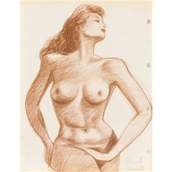 Vincente Minnelli (4) nude female form study drawings.