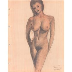 Vincente Minnelli (5) nude female form study drawings.