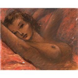 Vincente Minnelli reclining female nude study painting.