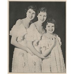 Judy Garland extremely rare Gumm Sisters portrait from an early performance.