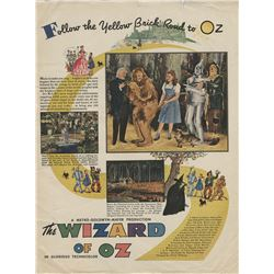 Judy Garland personal McCalls magazine feature on The Wizard of Oz.