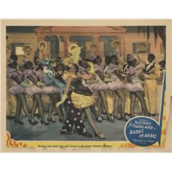 Judy Garland minstrel lobby card from Babes in Arms.