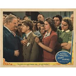 Judy Garland lobby card from Babes in Arms.