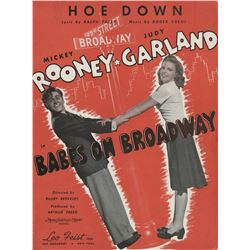 Judy Garland (5) pieces of sheet music from her films with Mickey Rooney.