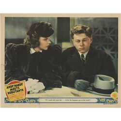 Judy Garland lobby card from Andy Hardy Meets Debutante.