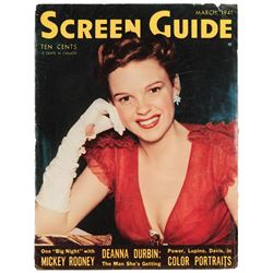 Judy Garland personal (4) vintage fan magazines and (2) tear sheets.