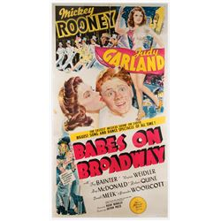 Judy Garland rare 3-sheet poster for Babes on Broadway.
