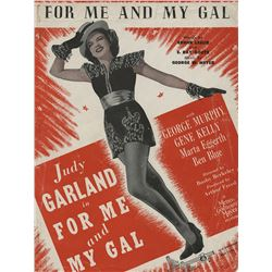 Judy Garland personal (3) pieces of sheet music from The Harvey Girls and For Me and My Gal.
