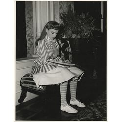 Judy Garland oversize behind the scenes photograph from Meet Me in St. Louis.