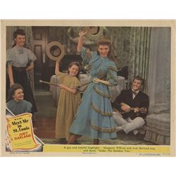 Judy Garland lobby card from Meet Me in St. Louis.