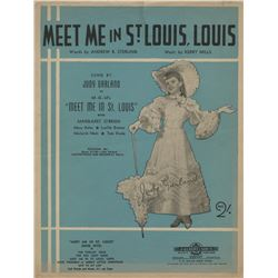 Judy Garland (4) pieces of ephemera from Meet Me in St. Louis.