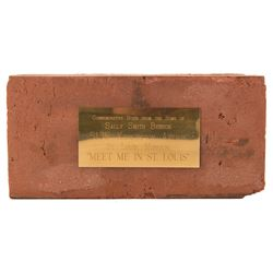 Commemorative brick from the residence of Sally Smith Benson, writer of Meet Me in St. Louis.