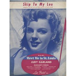 Judy Garland (3) pieces of sheet music for Meet Me in St. Louis.